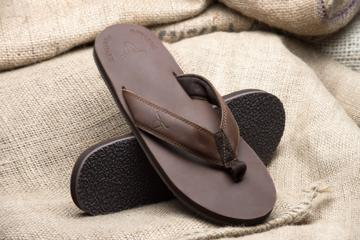 Men's Original Dark Brown Flip-Flops